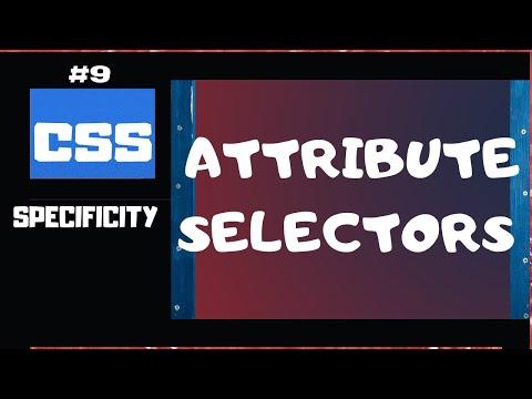 CSS ATTRIBUTE SELECTORS | CSS SELECTOR SPECIFICITY EXPLAINED PART 9