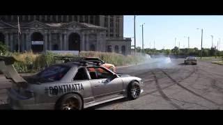 Drift Cars Take Over Detroit Streets - R.I.P GoPro - MDU Drift