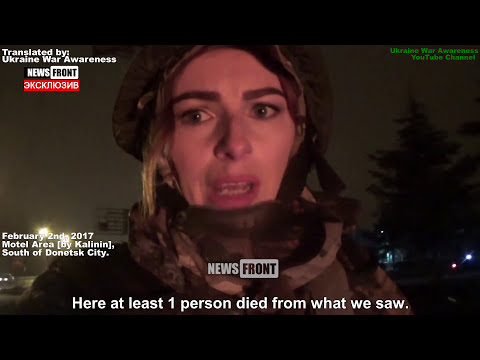 [18+] Grad Rocket Attacks on Donetsk City, Civilian Casualties. Feb 2nd, English Subtitles.