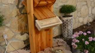 Diy Water Fountain From Wood With Spinning Water Wheel