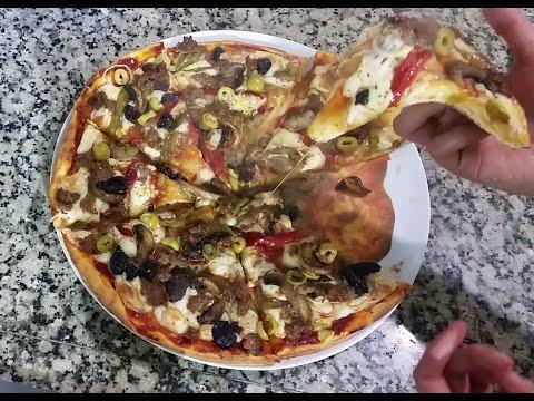 بيتزا-مثل-المطاعم-لذيييييذة-و-سههههلة-التحضير2/-pizza-facile-/-homemade-pizza-/