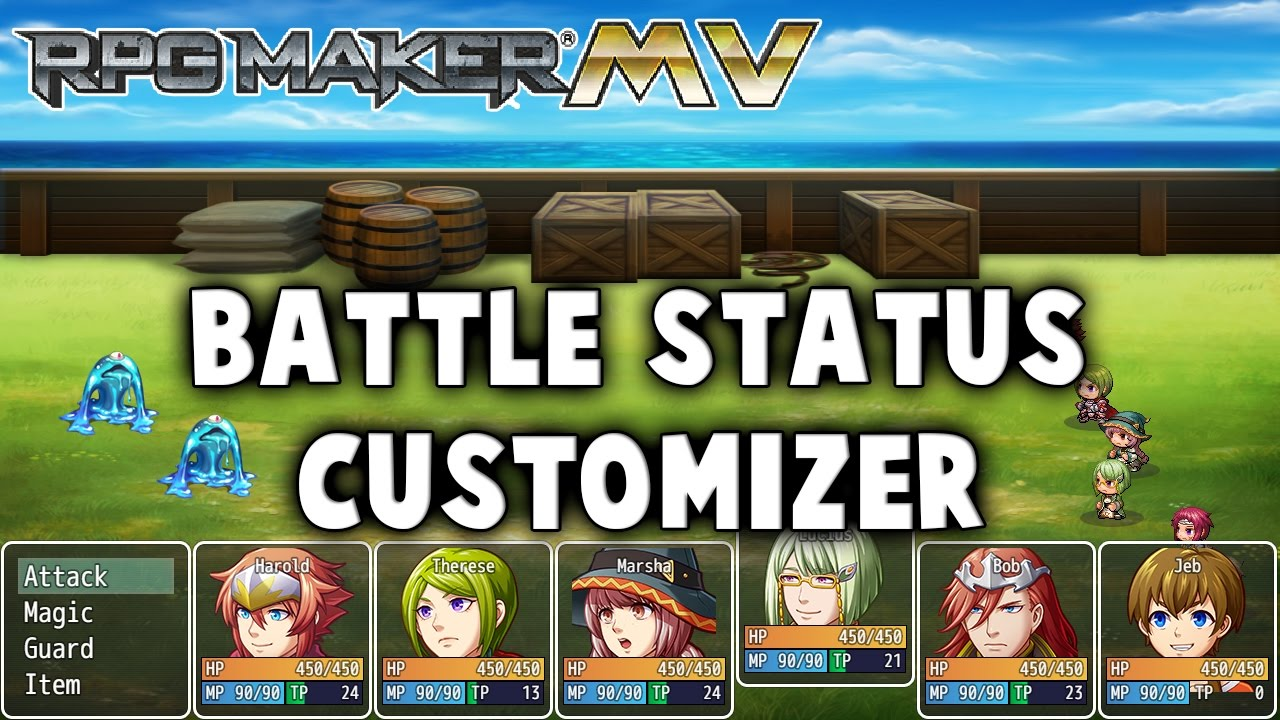 Battle Status Customizer – MV Plugin – RPG Maker MV Plugins