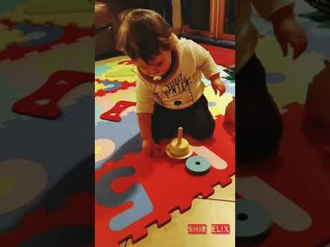 Montessori building blocks (13 month old baby)