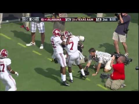 09/14/2013 Alabama vs Texas A&M Football Highlights