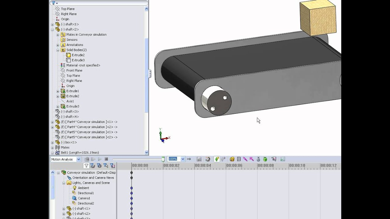 HOW TO MAKE A MOVING CONVEYOR IN SOLIDWORKS - YouTube