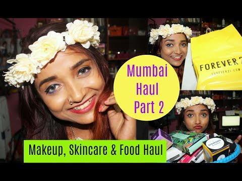 Huge Mumbai Haul Part 2 | Makeup Skincare Accessories & Food Haul | PAC Innesfree Nykaa & Many More