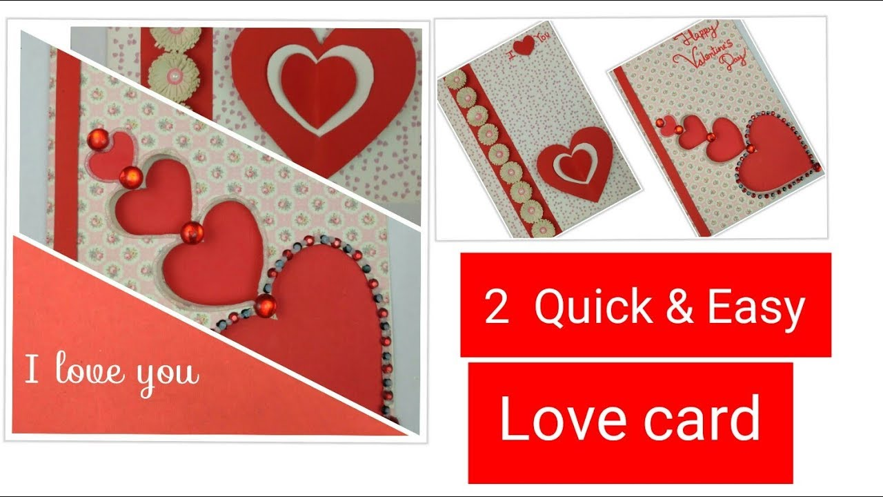 diy valentine cards handmade greeting cards for boyfriend - how to