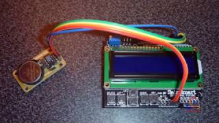DS1302 Real-Time Clock with LCD Keypad Shield over