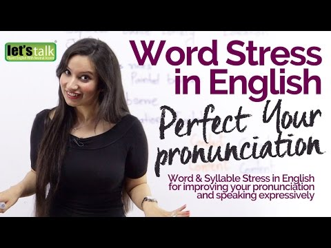 Word Stress Intonation In English