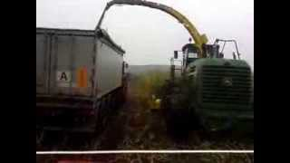 JD R335 with dolly trailer in mud - silages 2013!!!