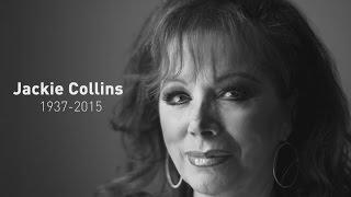 Jackie Collins dies of breast cancer aged 77