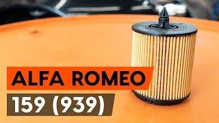 Hogyan cseréljünk Olajszűrő ALFA ROMEO 159 Sportwagon (939) - online ingyenes videó