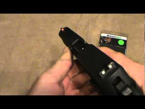Ameriglo Tritium Pistol Sight Review Youtube