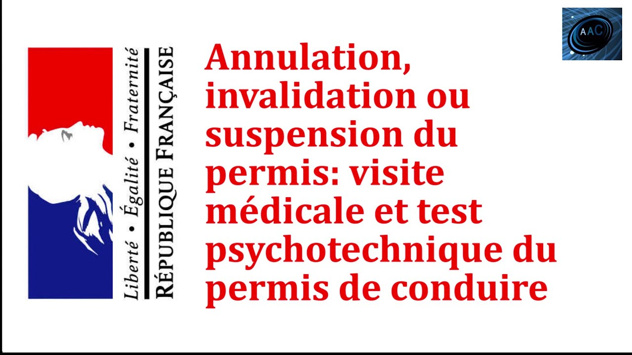 test psychotechnique apr s invalidation annulation ou suspension de permis de conduire youtube. Black Bedroom Furniture Sets. Home Design Ideas