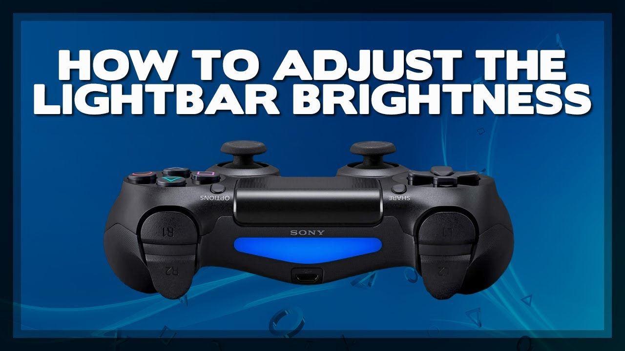 how to change brightness on ps4