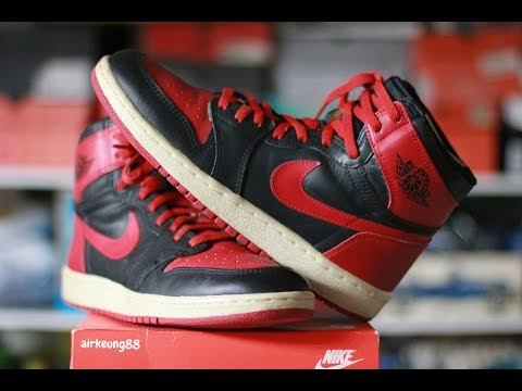 the best attitude 441a5 7dd7e EBAY STEAL 1985 JORDAN 1 BLACK RED BRED BANNED ROYAL UNBOXING Pickup!!!!  1988 true blue