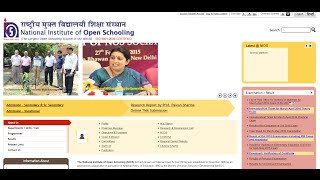 How to apply for Admission in (National Institute of Open Schooling (NIOS) )