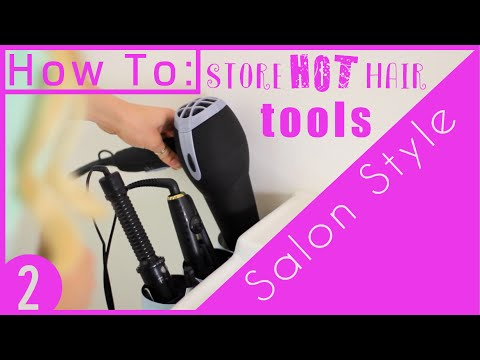 HOW TO DIY BATHROOM MAKEOVER 2 | HAIR TOOLS ORGANIZER