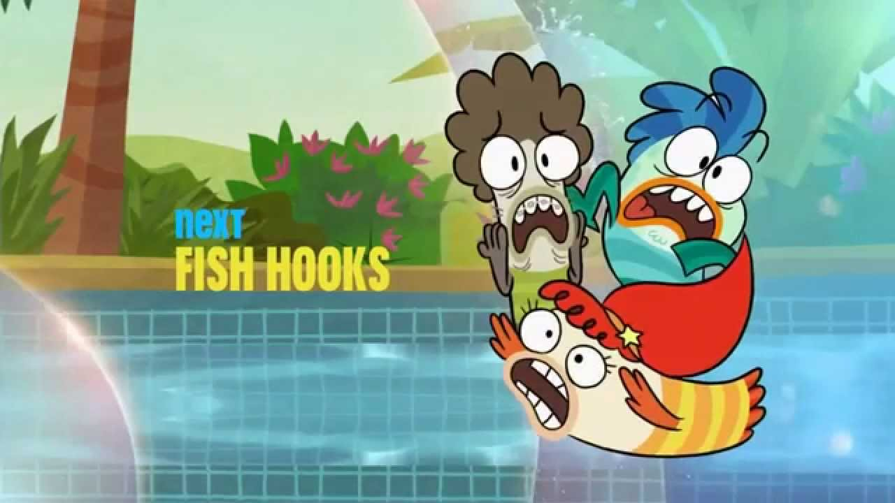 Fish hooks summer 2014 bumper on disney channel youtube for Fish hooks show