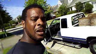 vlog #5 Quick & Clean lawn care pine needles and mowing