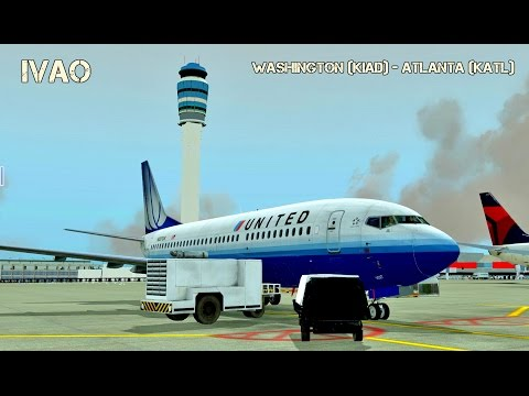 [X-Plane 10] Washington ✈ Atlanta | IXEG 737-300 | Rozando casas! [IVAO]