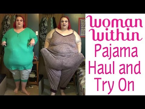 Woman Within Plus Size Pajama Haul and Try On