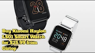 Buy Xiaomi Haylou LS01 Smart Watch for $25.99 from Giztop