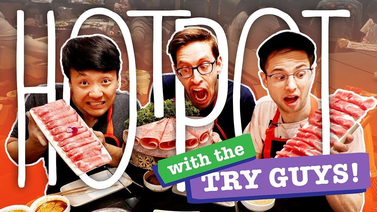Download SPICY A5 Wagyu Beef HOTPOT With The TRY GUYS! NOODLE DANCE in Los Angeles