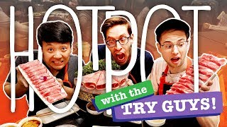 I met up with the Try Guys, and I had to introduce them to my favorite type of meal, Hot pot. Believe it or not, it was their first time trying hot pot! #hotpot #tryguys ...