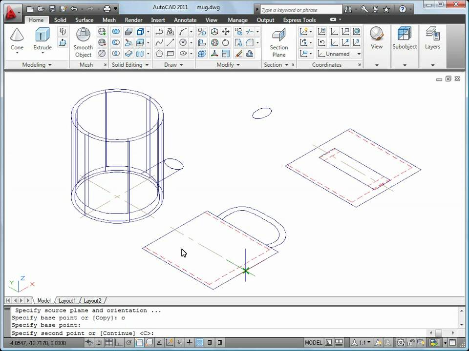 Autocad 2011 Tutorial How To Convert 2d To 3d Objects