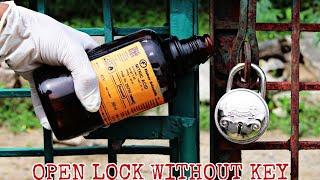 क्या हम तेजाब (Nitric Acid) से ताले को खोल सकते हैं - How to open a lock without a key
