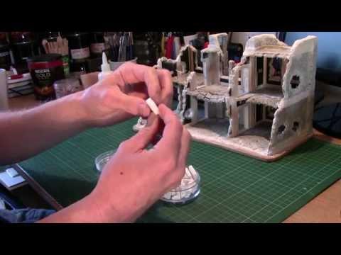 Foamboard Buildings & Ruins - Adding Rubble