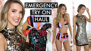 NEW YEARS VACATION EMERGENCY TRY-ON HAUL AMAZON FASHION