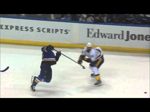 Vladimir Tarasenko vs Ryan Ellis fight Nashville Predators vs St. Louis Blues Nov 13 2014 NHL