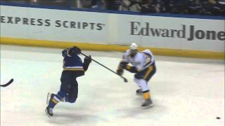 Vladimir Tarasenko vs Ryan Ellis fight Nashville Predators vs St. Louis Blues Nov 13 2014 NHL