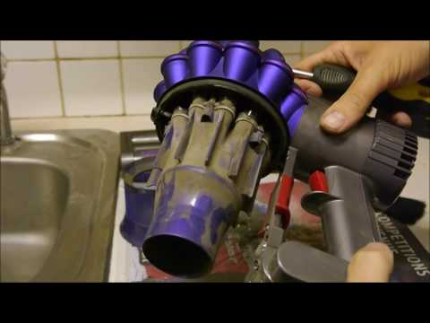 How to clean the Dyson V6 / DC59 Cordless Vacuum Cleaner