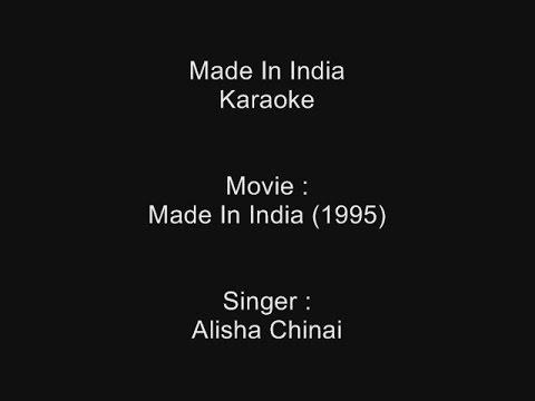 Made In India - Karaoke - Alisha Chinai - Made In India (1995)