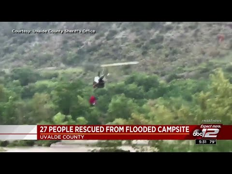 27 rescued from flooding in Uvalde County