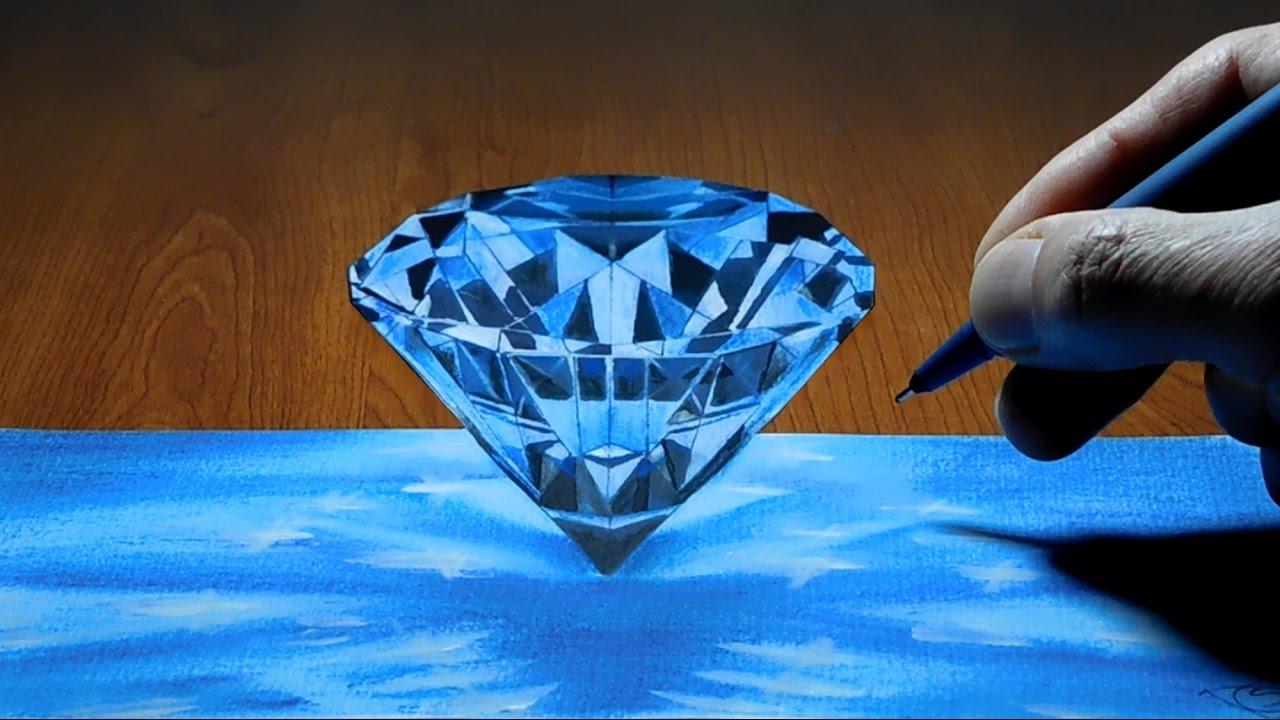 Diamond, 3D Trick Art on Paper