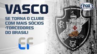 EXPLOSÃO CRUZMALTINA! VASCO SE TORNA O CLUBE COM MAIS SÓCIOS-TORCEDORES DO BRASIL!