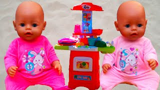 Кукла Настя и Новая Кухня Как Мама Играем c Беби Бон/  Pretend play with Baby Doll Nastya & Emily