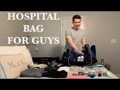 What's in My Hospital Bag 2019 (Dad/Guys Edition)
