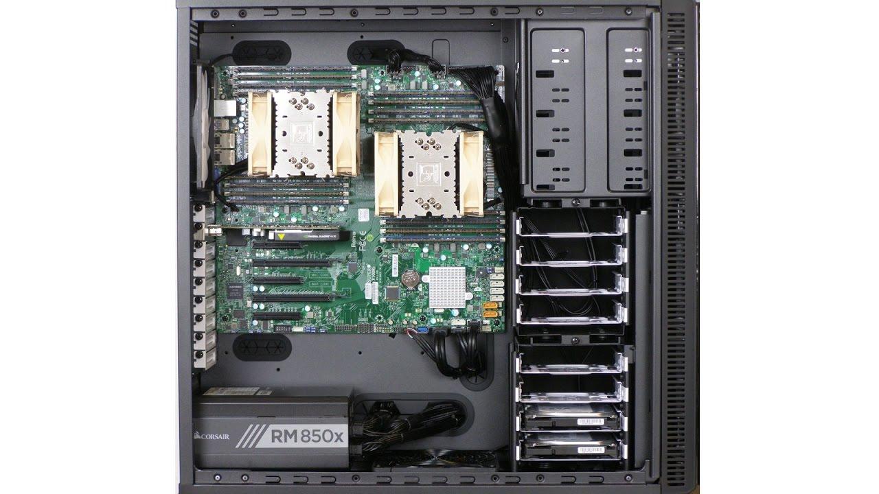 Dual Xeon workstation server - 2x Intel Xeon E5 2683 v4 (32 cores, 64  threads), 512GB RAM ECC