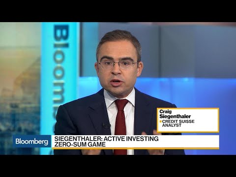 Credit Suisse Analyst Sees Passive Investing Decelerating