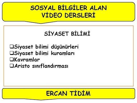 Ercan Tidim / Sosyal Bilgiler Alan Dersi / SİYASET BİLİMİ