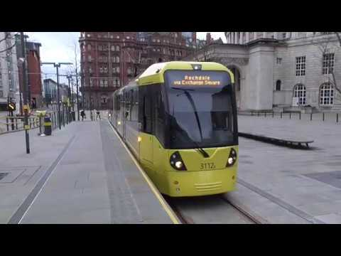 Manchester Metrolink Tram Ride - St Peter's Square to Victoria