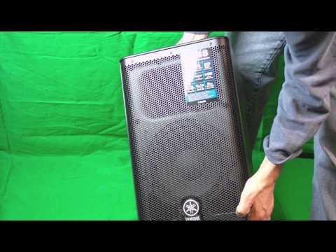 Yamaha DXR8 Portable 1100 Watt Powered Speaker unboxing overview