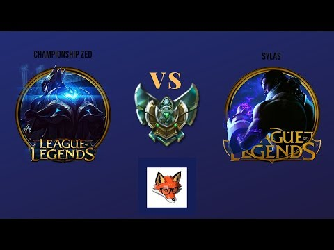 League of Legends- Championship Zed vs Sylas