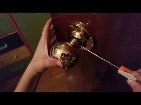 How to change an interior door knob