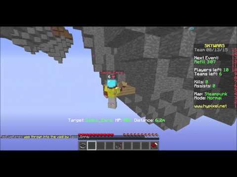 Minecraft Hacker report - hypixel Skywars - fly hacker